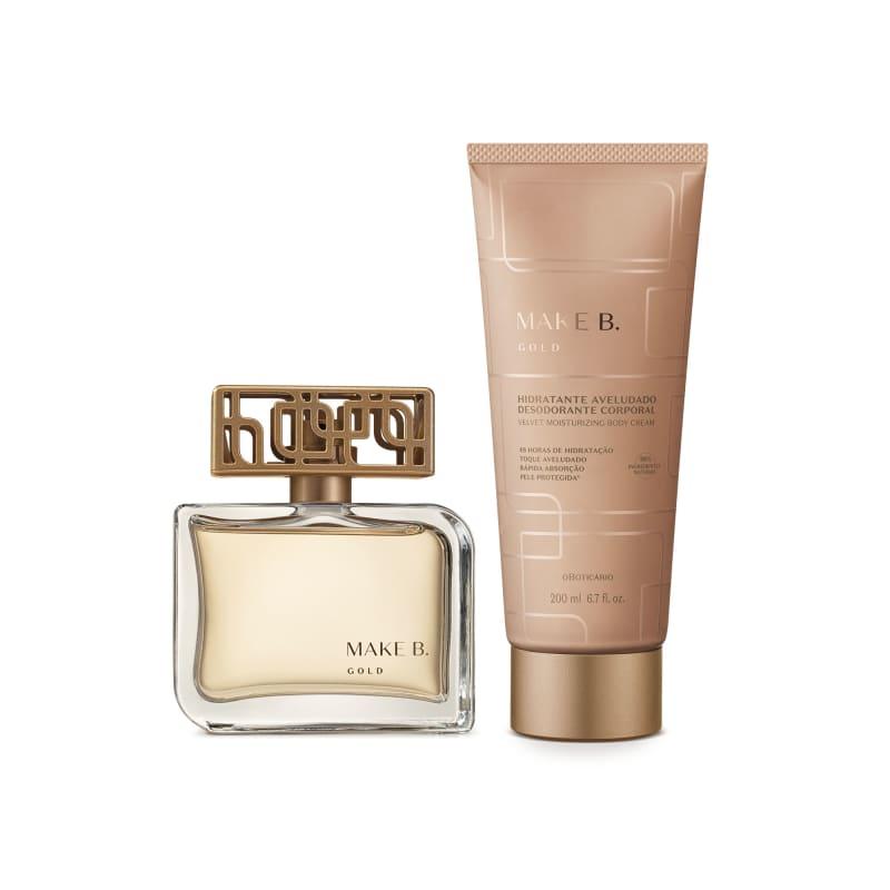 Combo Make B. Gold: Eau de Parfum 75ml + Creme Aveludado 200g