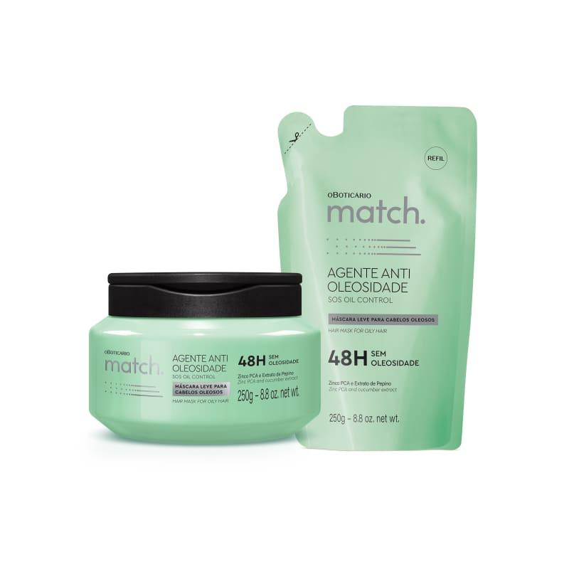 Combo Match Agente Antioleosidade: Máscara 250g + Refil 250g