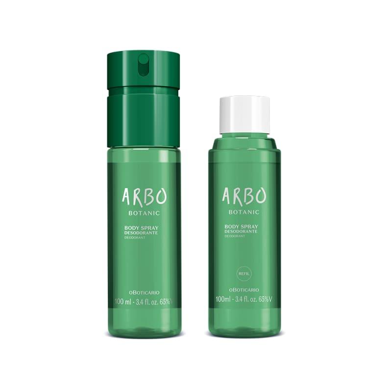 Combo Arbo Botanic: Body Spray 100ml + Refil 100ml