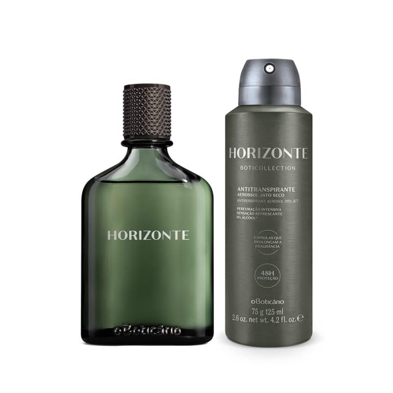 Combo Presente Boticollection Horizonte: Desodorante Colônia 100ml + Antitranspirante Aerossol 75g