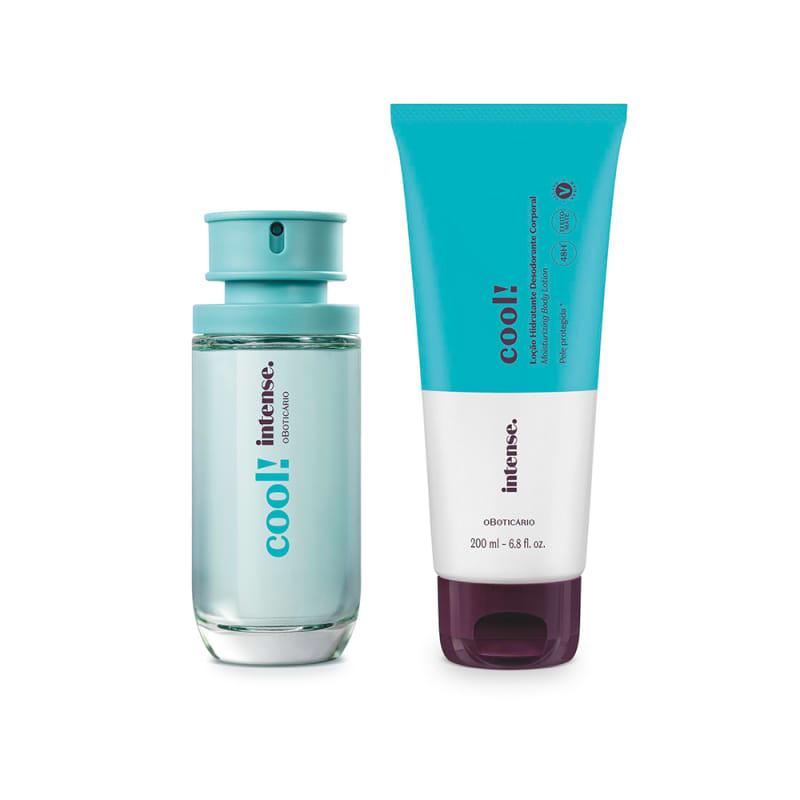 Conjunto Intense Cool! o Boticário Feminino - Desodorante Colônia 50ml + Loção Corporal 200ml