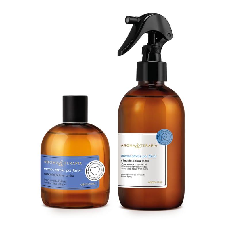 Combo Aroma & Terapia Menos Stress: Desodorante Colônia 75ml  + Aromatizador de Ambiente 250ml