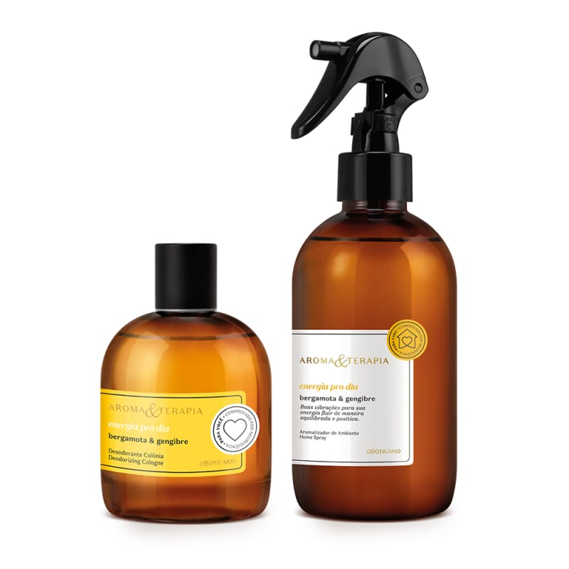 Combo Aroma & Terapia Energia pro Dia: Desodorante Colônia 75ml  + Aromatizador de Ambiente 250ml