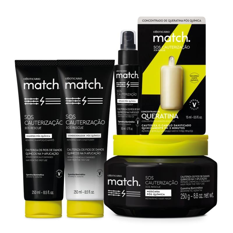Combo Match SOS Cauterização Pós-Química (5 itens)