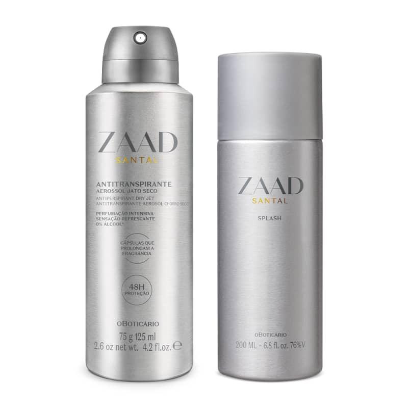 Combo Zaad Santal: Splash 200ml + Antitranspirante 75g