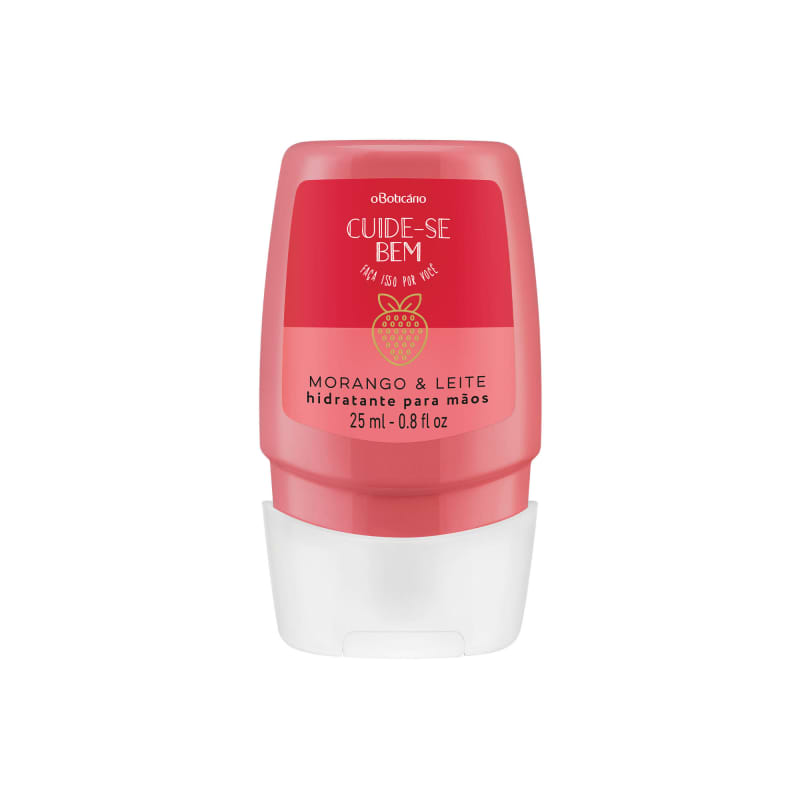 Creme Hidratante Desodorante para Mãos Cuide-se Bem Morango e Leite