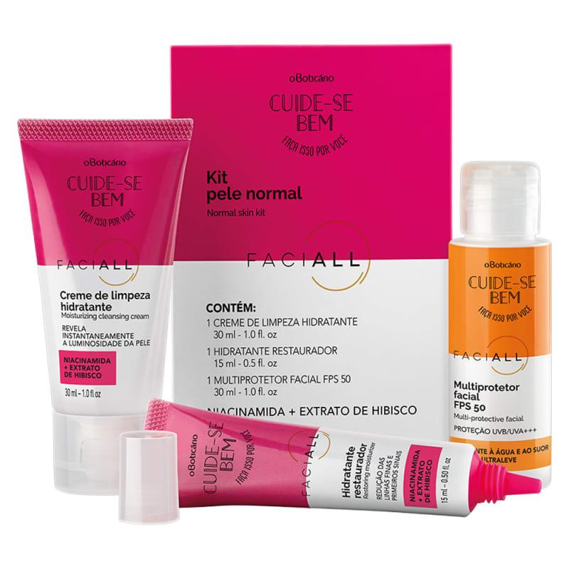 Kit Cuide-Se Bem Faciall Pele Normal: Multiprotetor FPS 50 30ml + Creme de Limpeza 30ml + Creme Hidratante 15ml