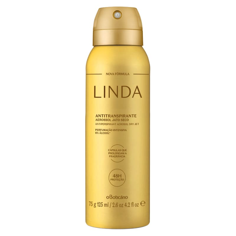 Desodorante Antitranspirante Aerossol Linda 75g/125ml