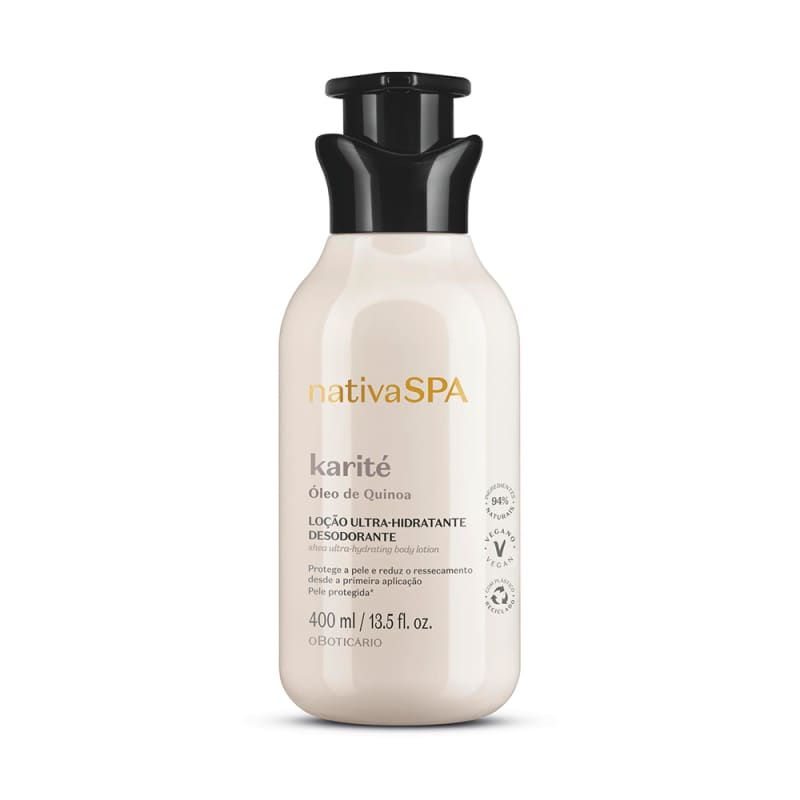 o Boticário Nativa Spa Karité - Loção Hidratante Desodorante Corporal 400ml