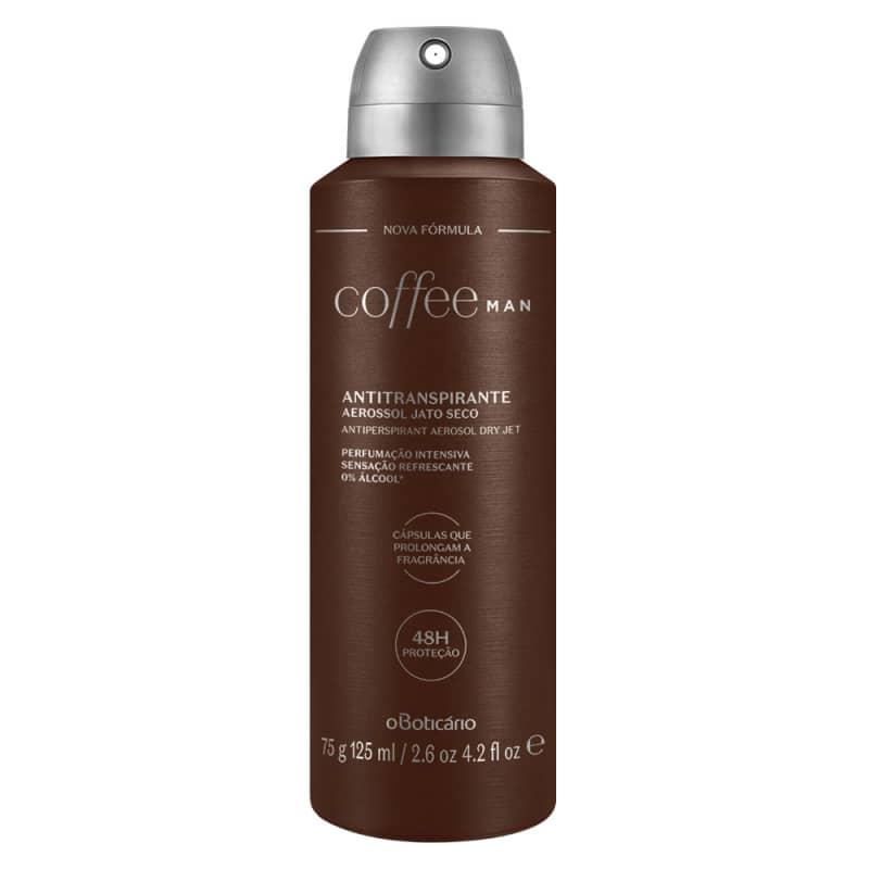 Desodorante Antitranspirante Aerosol Coffee Man, 75g/125ml