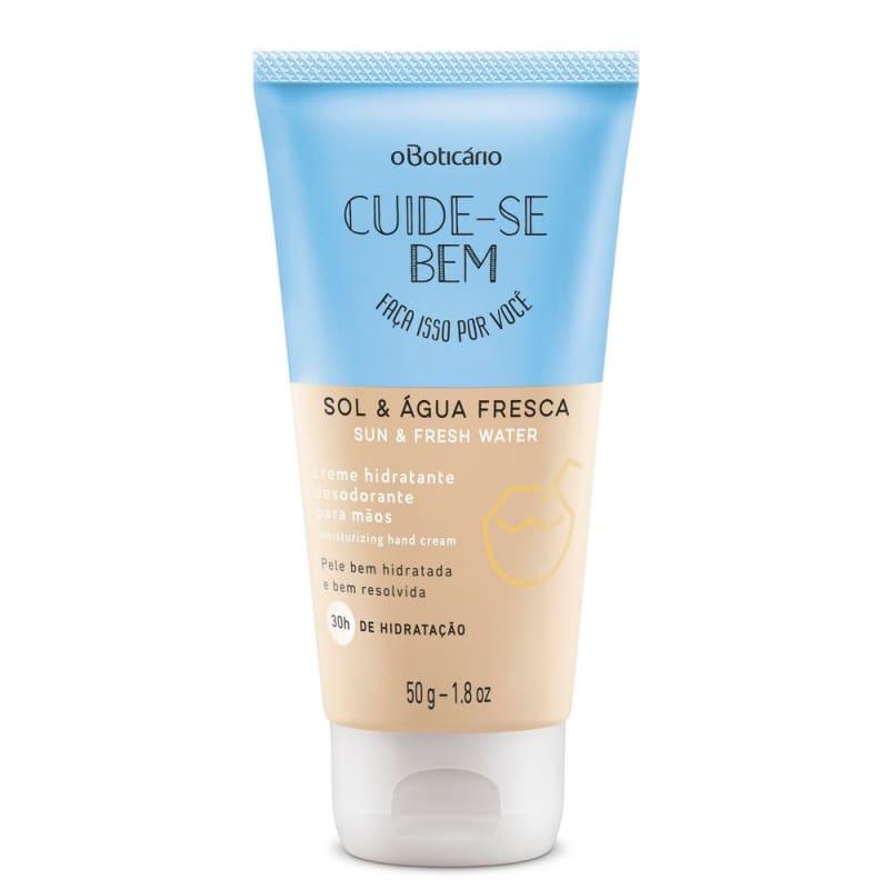Creme Desodorante para Mãos Cuide-Se Bem Sol e Água Fresca, 50g