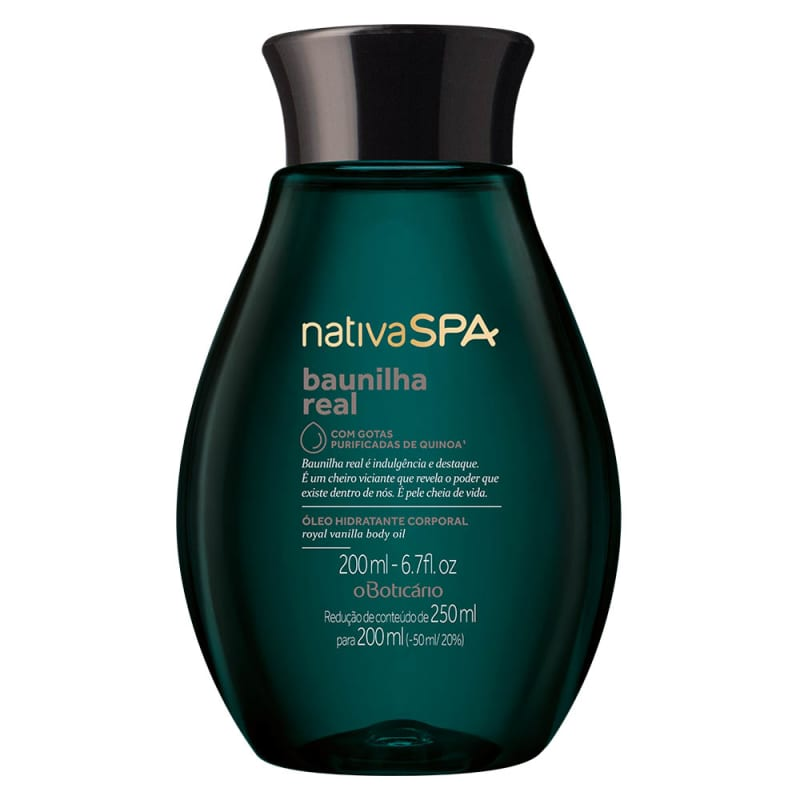 Óleo Desodorante Corporal Nativa SPA Baunilha Real, 200ml