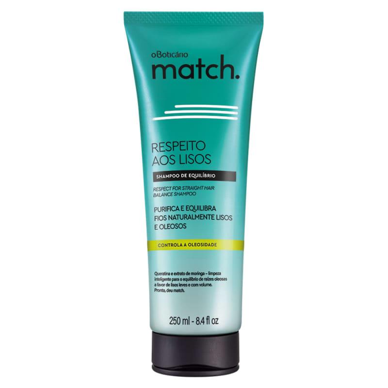 o Boticário Match Respeito aos Lisos Cabelos Oleosos - Shampoo 250ml