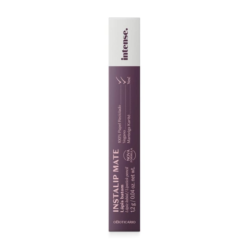 Intense Lápis Batom Vinho, 1,2 G