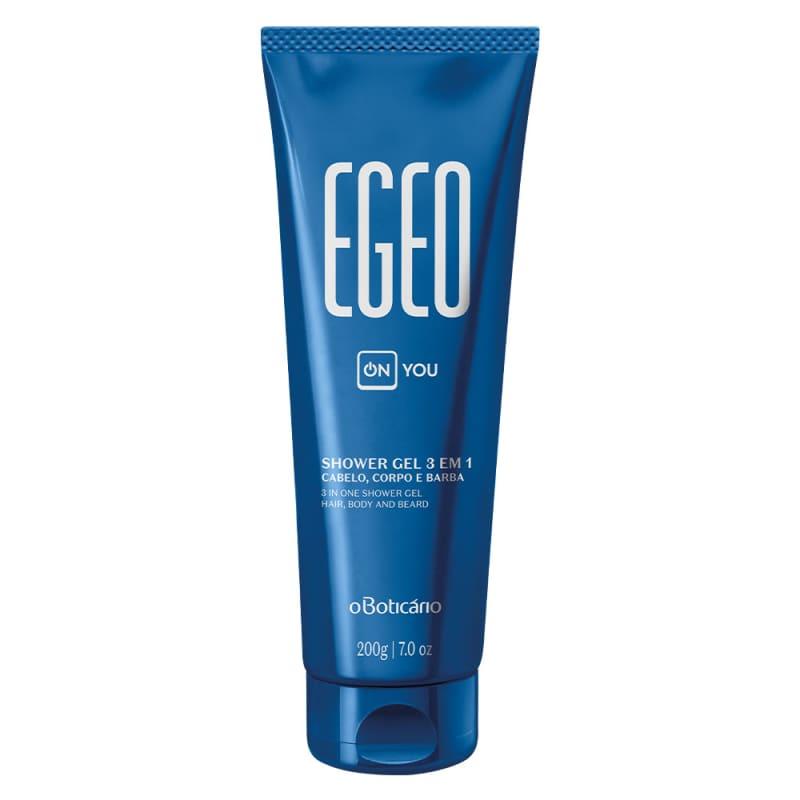 Shower Gel Cabelo, CorPó e Barba 3 em 1 Egeo On You, 200g