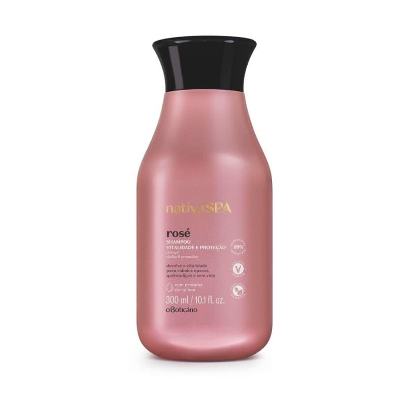 Shampoo Vitalidade E ProteçãoNativa Spa Rosé 300ml