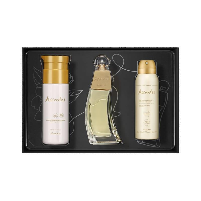 Kit Presente Accordes: Desodorante Colônia 80ml + Creme Desodorante Hidratante 200ml + Antitranspirante 75g
