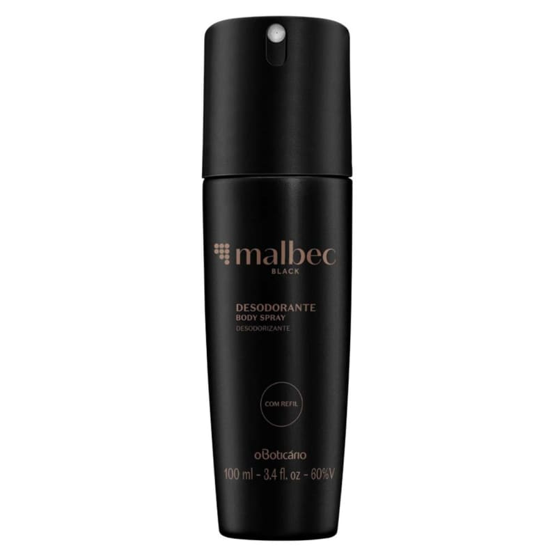 Desodorante Body Spray Malbec Black, 100ml