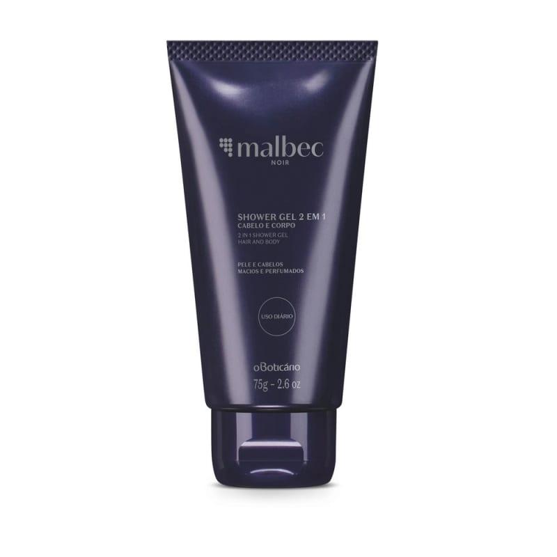 Shower Gel Cabelo E Corpo Malbec Noir, 75 g