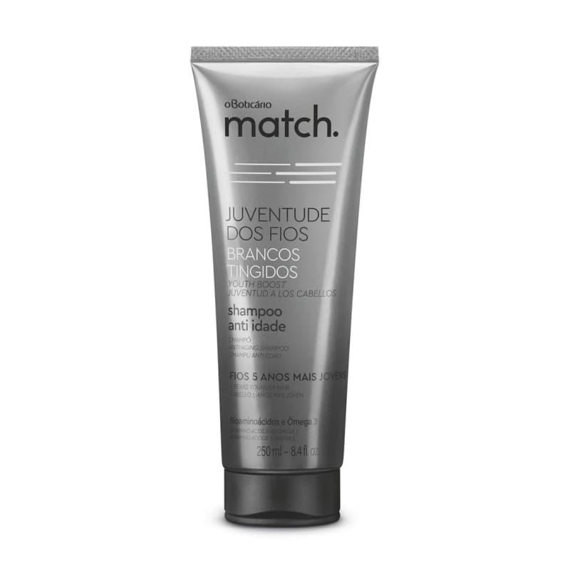 Shampoo Anti-Idade Match Juventude dos Fios Brancos Tingidos 250ml