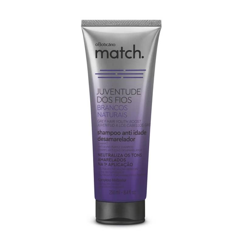 Shampoo Anti-Idade Desamarelador Match Juventude dos Fios Brancos Naturais 250ml