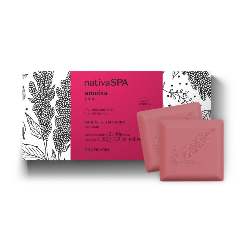 Sabonete em Barra Nativa SPA Ameixa 2 unidades de 90g