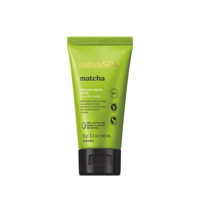 Nativa Spa Máscara Facial Detox Matcha, 70 g