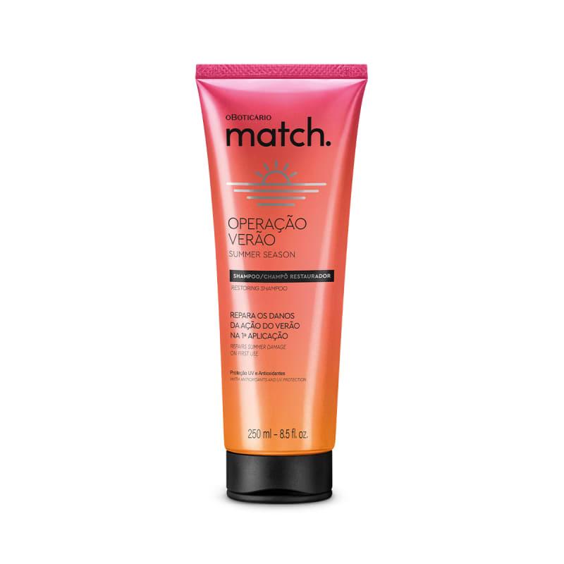 Shampoo Restaurador Match Operação Verão 250ml