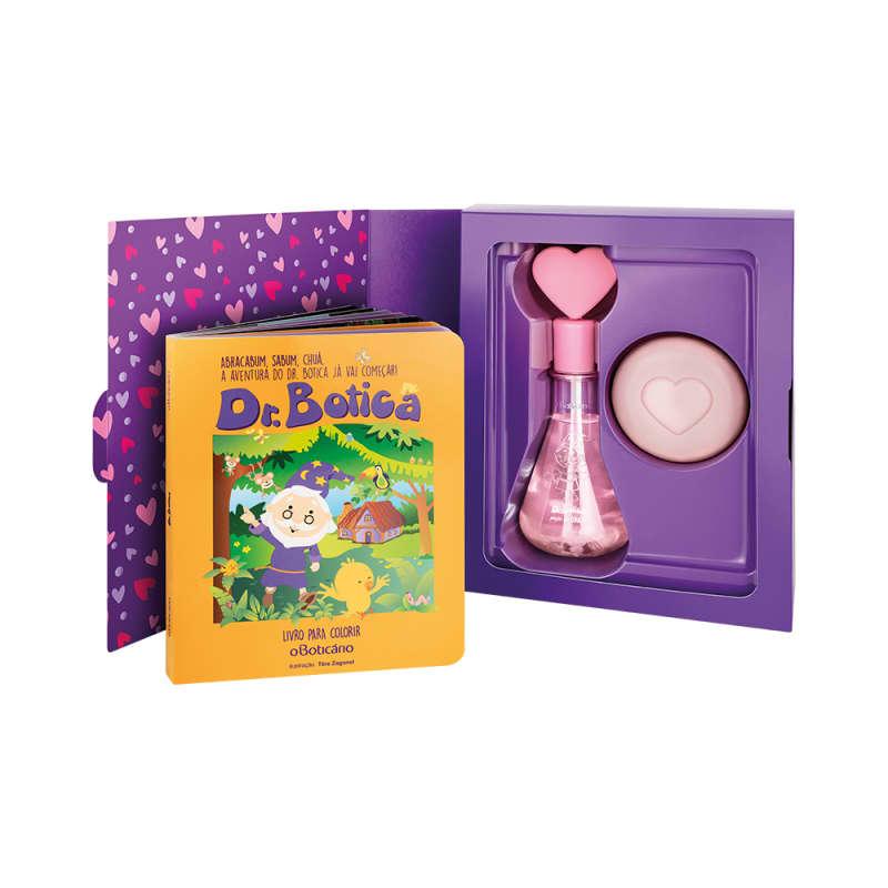 Kit Presente Dr. Botica do Coração: Colônia Infantil 120ml + Sabonete em Barra 80g + Livro para Colorir
