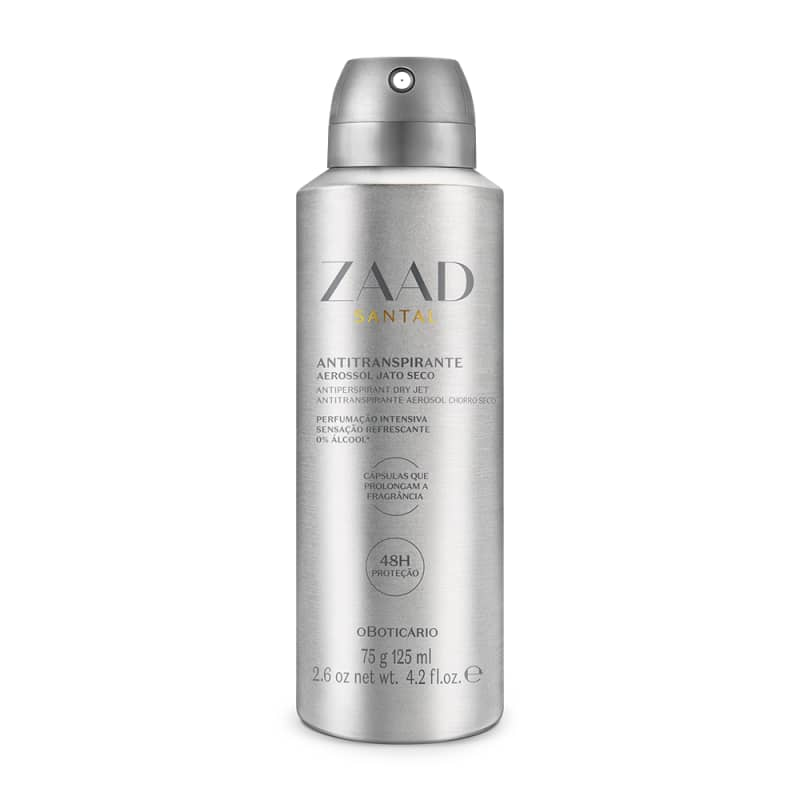 Desodorante Antitranspirante Aerossol Zaad Santal 75g