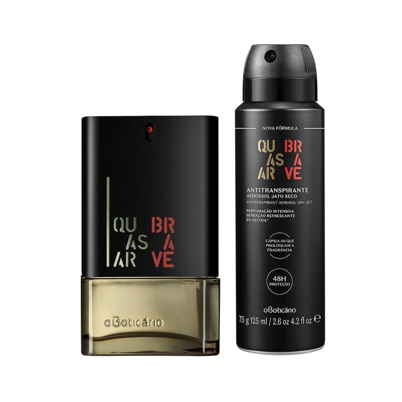 Combo Quasar Brave: Desodorante Colônia 100ml + Desodorante Antitranspirante Aerossol 75g