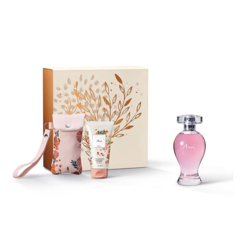 Kit Presente Boticollection Anni: Desodorante Colônia 100ml + Creme para Mãos 50g + Capinha para Creme de Mãos