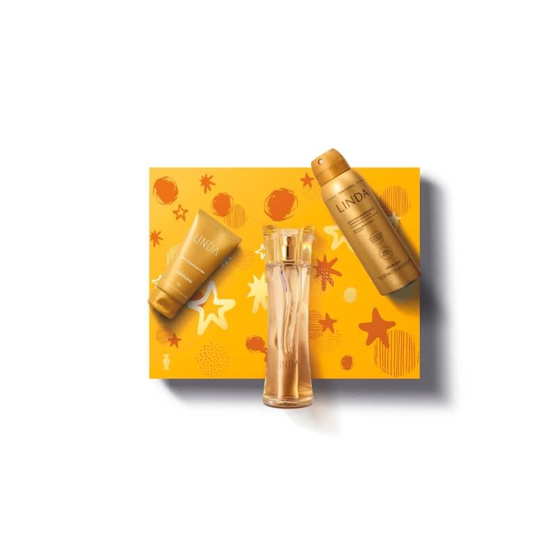 Kit Presente Linda: Desodorante Colônia 100ml + Antitranspirante Desodorante Aerossol 75g + Creme Desodorante Hidratante para as Mãos 50g