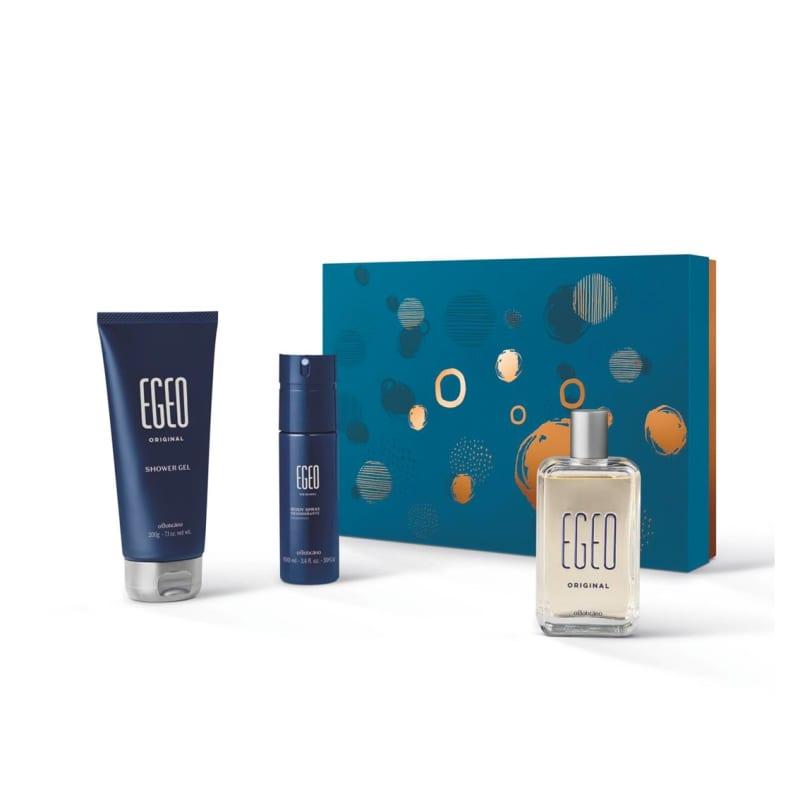 Kit Presente Natal Egeo Original: Desodorante Colônia 90ml + Body Spray 100ml + Shower Gel 200g