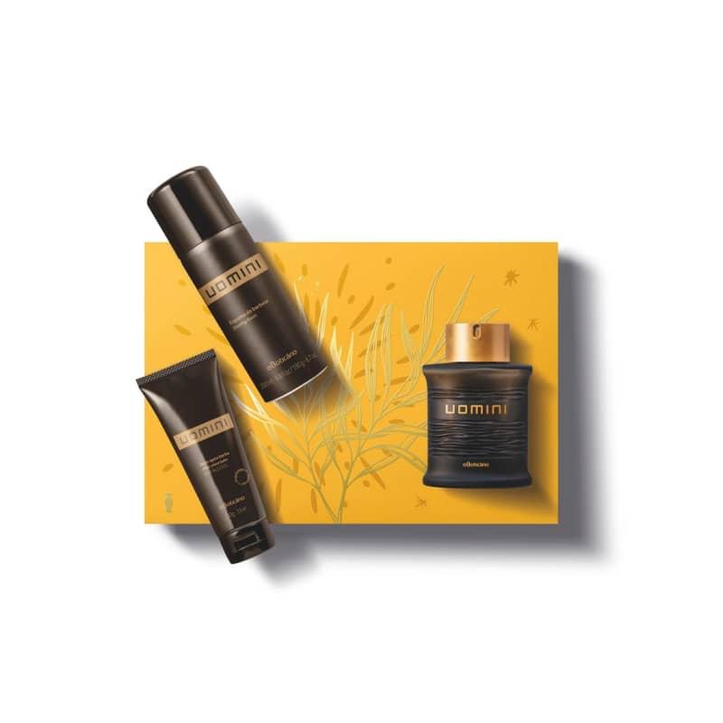 Kit Presente Natal Uomini: Desodorante Colônia 100ml + Espuma de Barbear 200ml + Balm Pós-Barba 110g