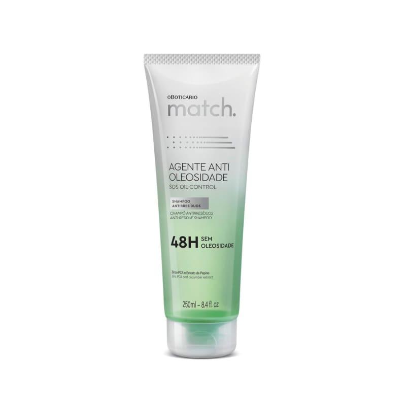 o Boticário Match. Agente Antioleosidade - Shampoo Antirresíduos 250ml