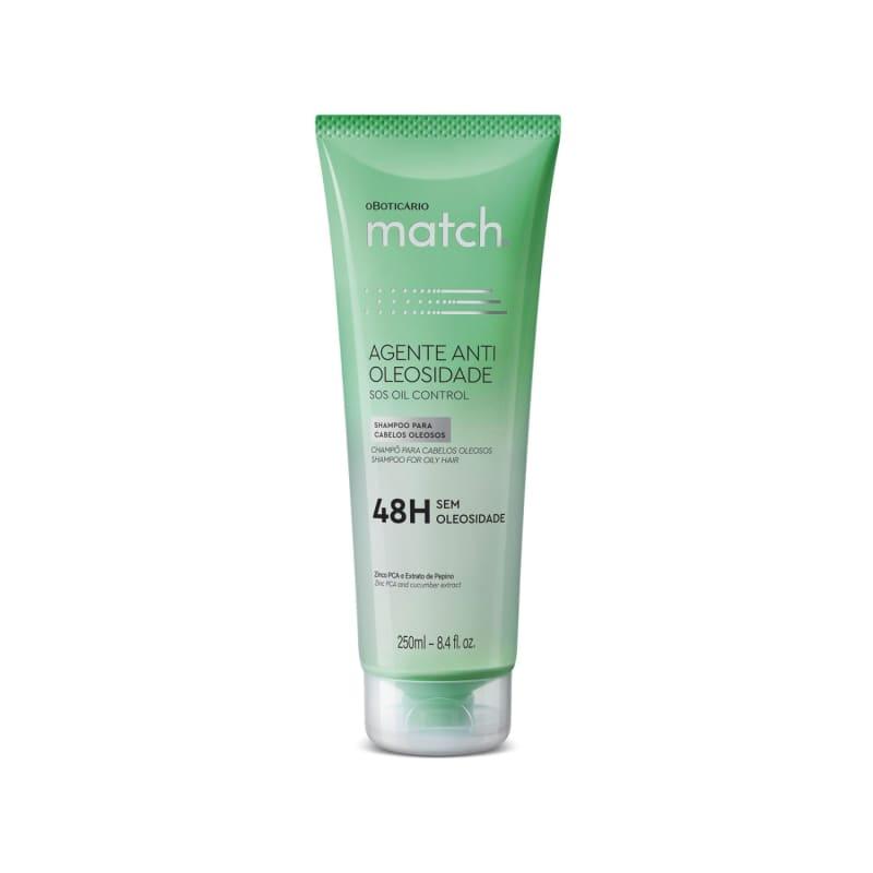 o Boticário Match. Agente Antioleosidade - Shampoo 250ml