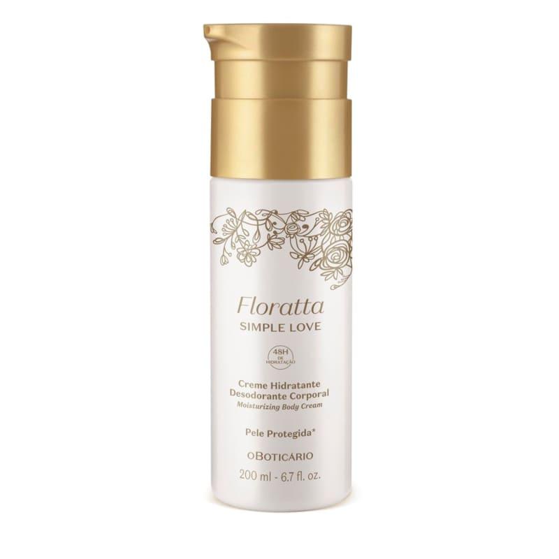 Creme Hidratante Desodorante Corporal Floratta Simple Love 100ml