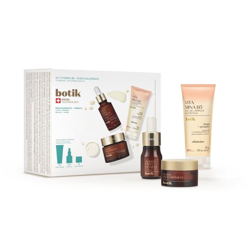 Kit Botik Ácido Hialurônico + Vitamina B5 (3 itens)