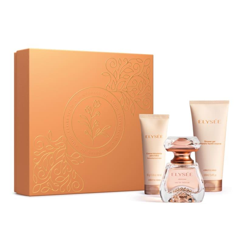 Conjunto Elysée o Boticário Feminino - Eau de Parfum 50ml + Gel de Banho 100ml + Creme para as Mãos 50g