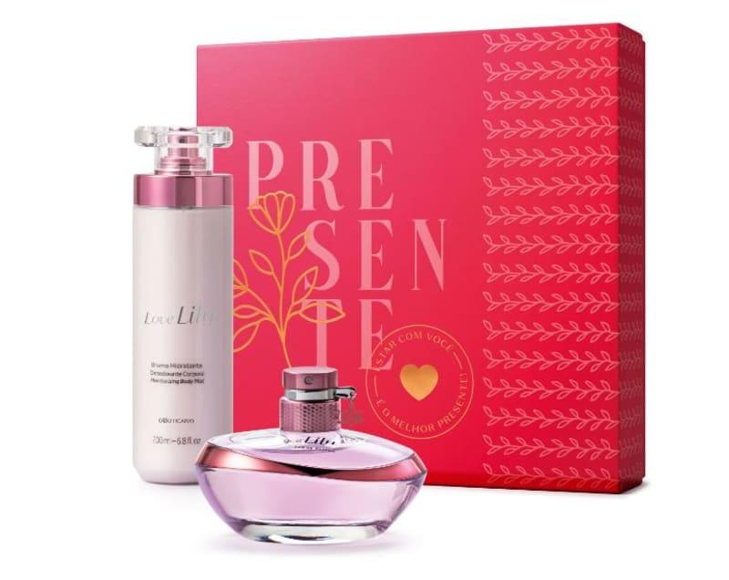 Conjunto Love Lily o Boticário Feminino - Eau de Parfum 75ml + Bruma Hidratante Desodorante 200ml