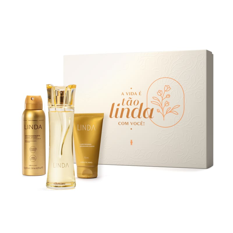 Kit Presente Linda: Desodorante Colônia 100ml + Antitranspirante 75g + Creme Hidratante 75ml