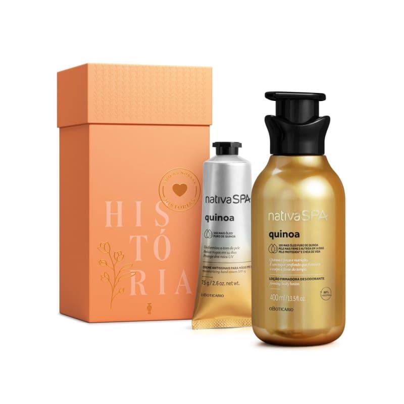 Kit Presente Nativa SPA Quinoa: Loção Hidratante Desodorante Corporal 400ml + Creme Antissinais de Mãos 75g