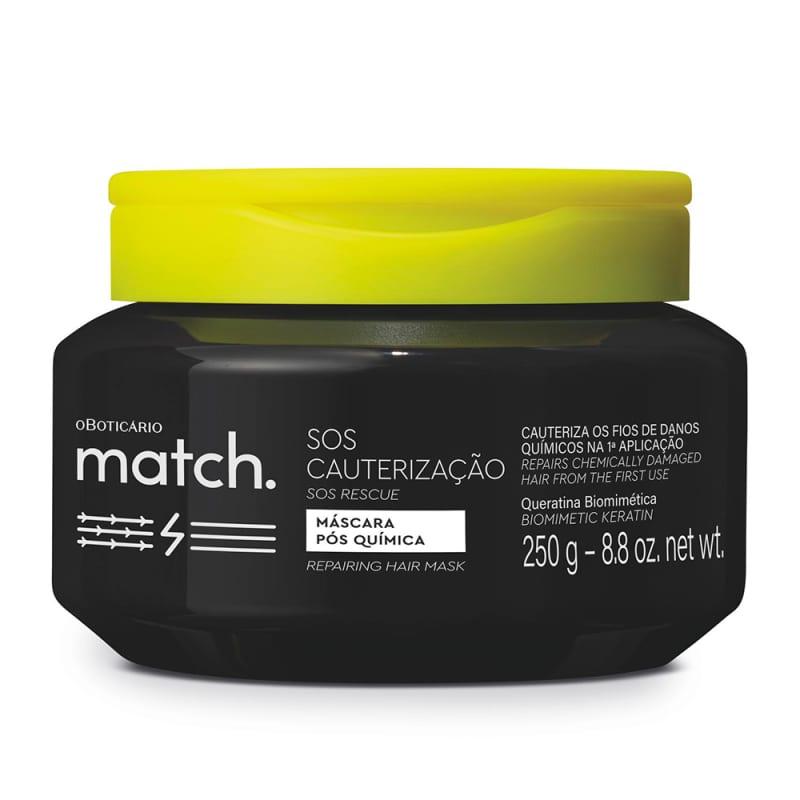 o Boticário Match SOS Cauterização - Máscara Capilar Pós-Química 250ml