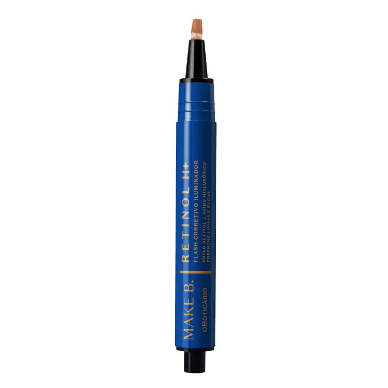 o Boticário Make B. Retinol H+ Flash Iluminador Cor 50 - Corretivo Líquido 2,5g