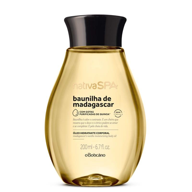 Óleo Desodorante Hidratante Corporal Nativa SPA Baunilha de Madagascar 200ml
