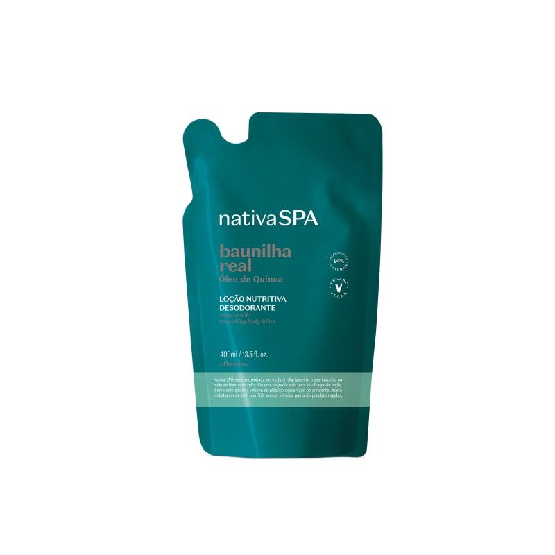 o Boticário Nativa SPA Baunilha Real Refil - Loção Hidratante Desodorante Corporal 400ml