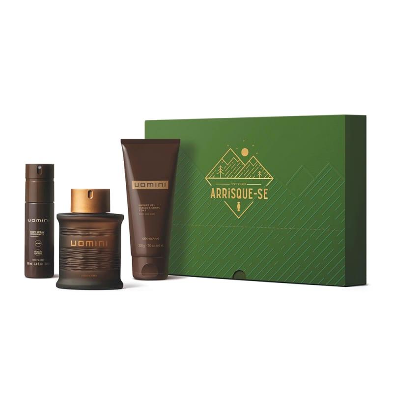 Kit Presente Dia dos Pais Uomini: Desodorante Colônia 100ml + Shower Gel 200g + Body Spray 100ml