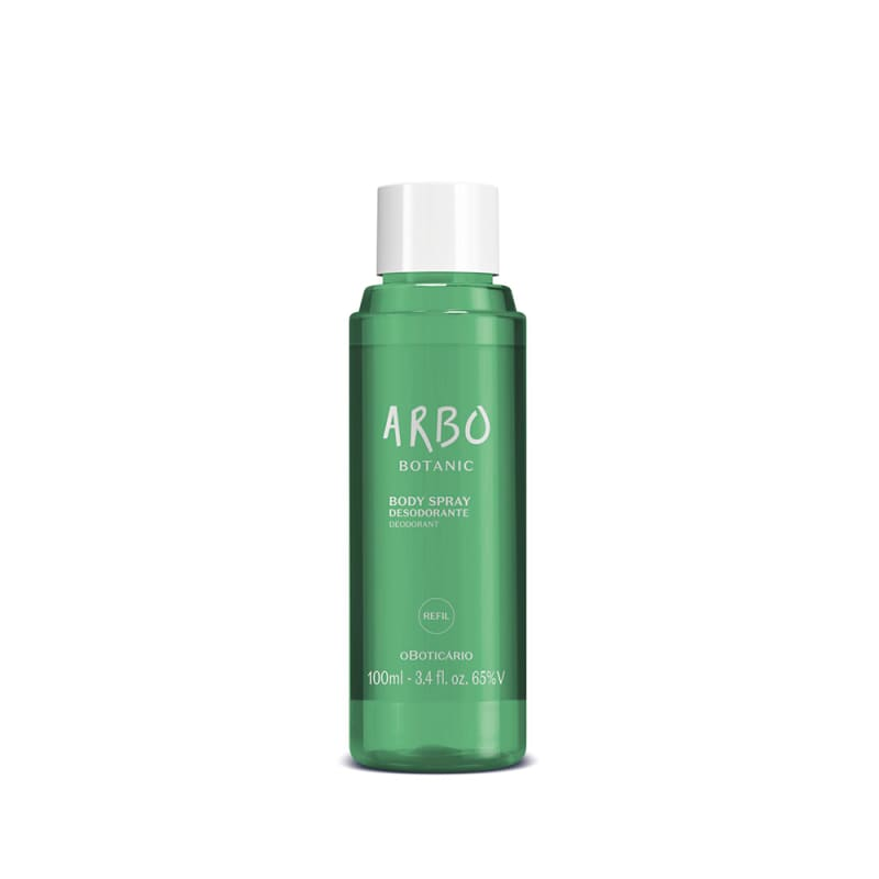 Refil Body Spray Desodorante Arbo Botanic 100ml