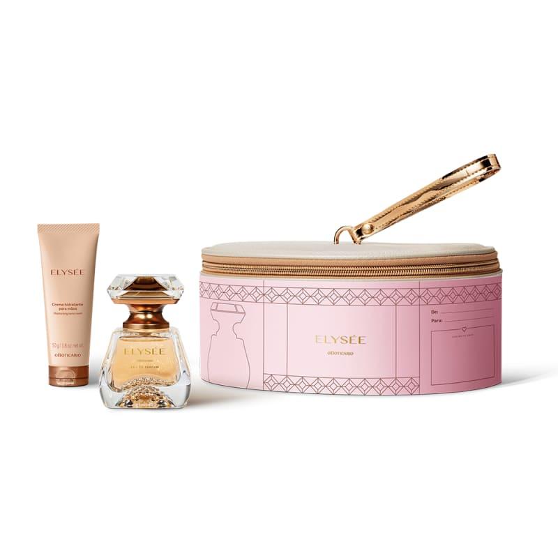 Kit Presente Elysée: Eau de Parfum 50ml + Creme para Mãos 50g + Frasqueira Nude